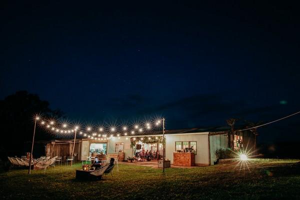 Barn at Graciosa at night