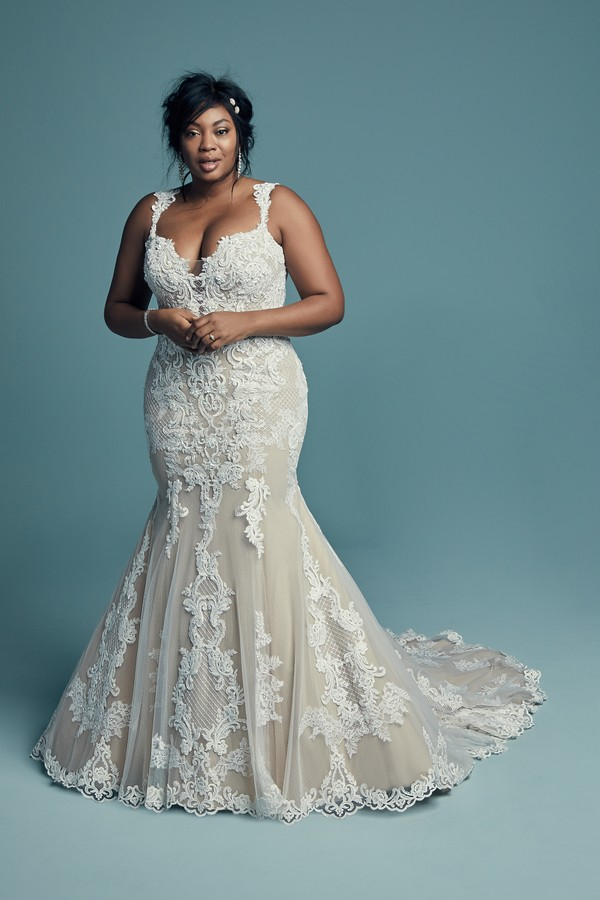 Abbie Lynette Plus Size Wedding Dress from the Maggie Sottero Lucienne Fall 2018 Bridal Collection