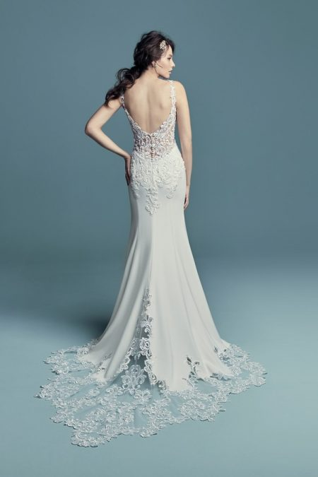 Back of Alaina Wedding Dress from the Maggie Sottero Lucienne Fall 2018 Bridal Collection