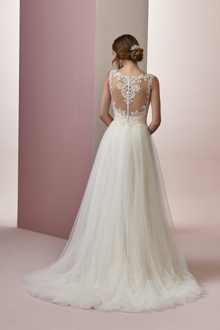 Back of Amanda Wedding Dress from the Rebecca Ingram Camille Fall 2018 Bridal Collection