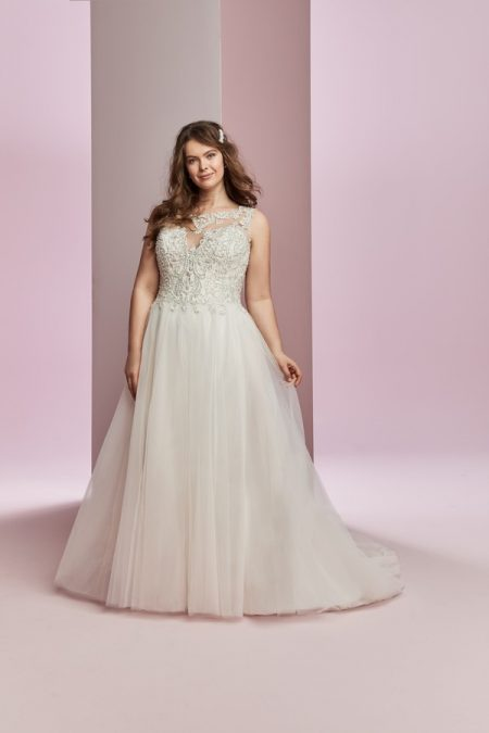 Amanda Plus Size Wedding Dress from the Rebecca Ingram Camille Fall 2018 Bridal Collection