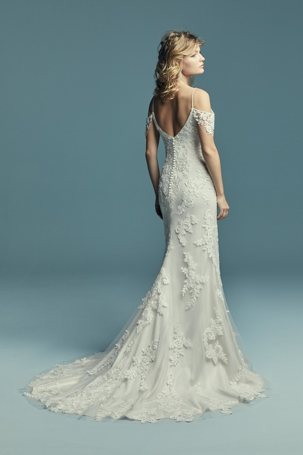 Back of Angelica Wedding Dress from the Maggie Sottero Lucienne Fall 2018 Bridal Collection
