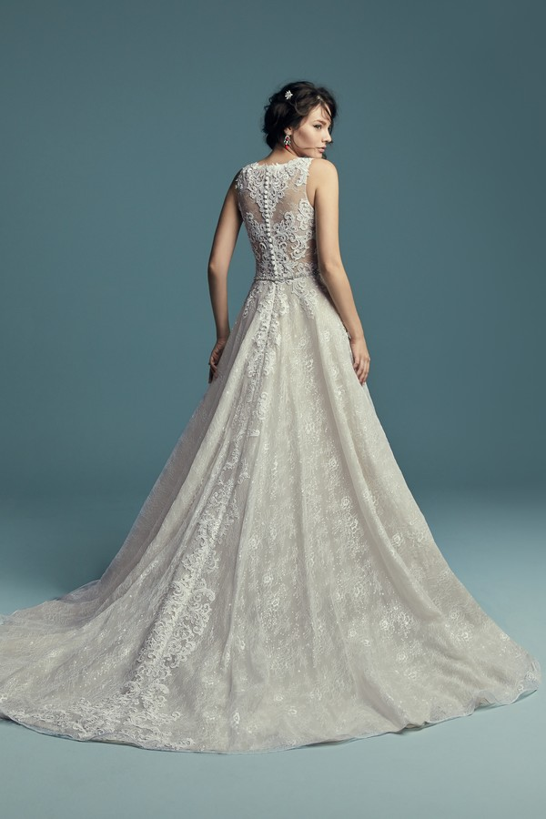 Back of Annabella Wedding Dress from the Maggie Sottero Lucienne Fall 2018 Bridal Collection