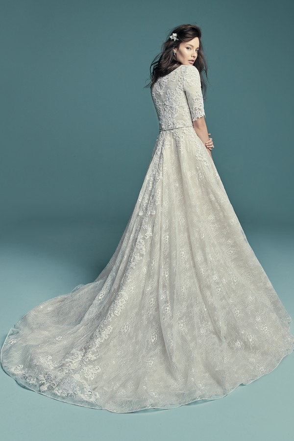 Back of Annabella Marie Wedding Dress from the Maggie Sottero Lucienne Fall 2018 Bridal Collection