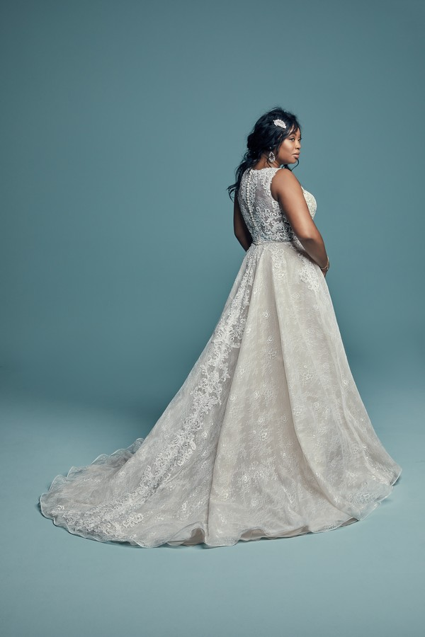Back of Annabella Plus Size Wedding Dress from the Maggie Sottero Lucienne Fall 2018 Bridal Collection