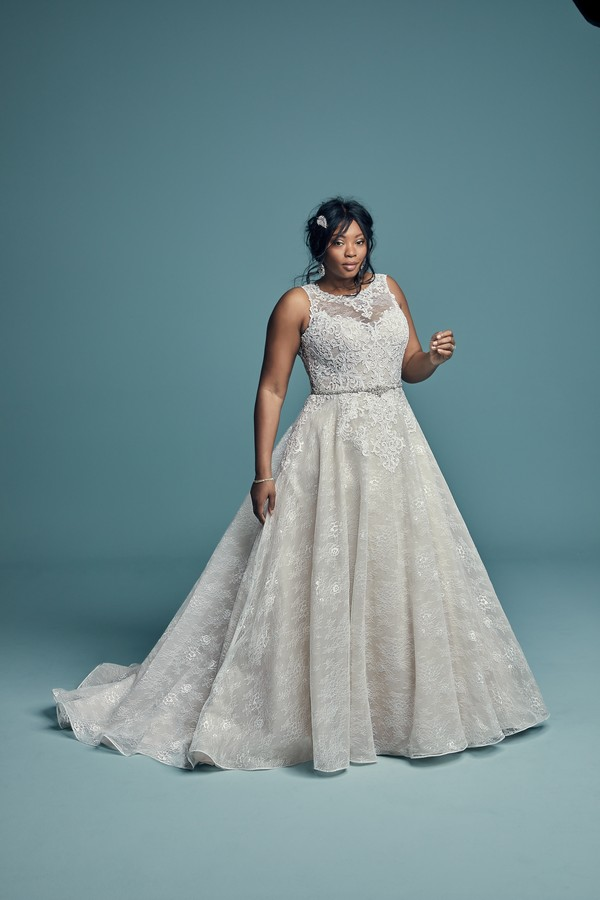 Annabella Plus Size Wedding Dress from the Maggie Sottero Lucienne Fall 2018 Bridal Collection