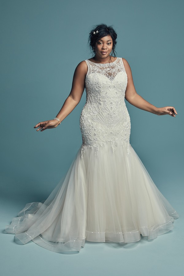 Ariella Marie Plus Size Wedding Dress from the Maggie Sottero Lucienne Fall 2018 Bridal Collection