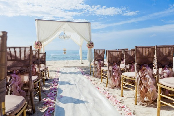 Beach Wedding at Azul Fives Hotel, Mexico