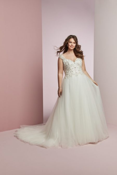 Bella Plus Size Wedding Dress from the Rebecca Ingram Camille Fall 2018 Bridal Collection