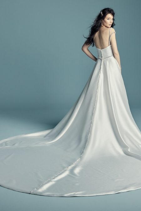 Back of Benicia Wedding Dress from the Maggie Sottero Lucienne Fall 2018 Bridal Collection