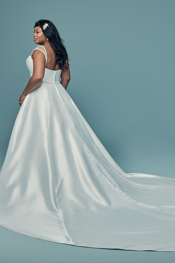 Back of Benicia Plus Size Wedding Dress from the Maggie Sottero Lucienne Fall 2018 Bridal Collection