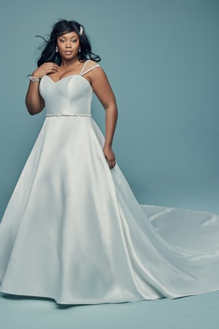 Benicia Plus Size Wedding Dress from the Maggie Sottero Lucienne Fall 2018 Bridal Collection