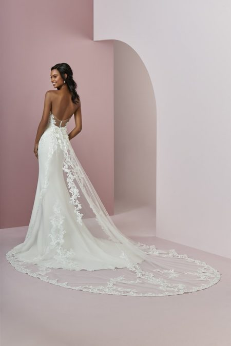 Back of Billie Wedding Dress from the Rebecca Ingram Camille Fall 2018 Bridal Collection
