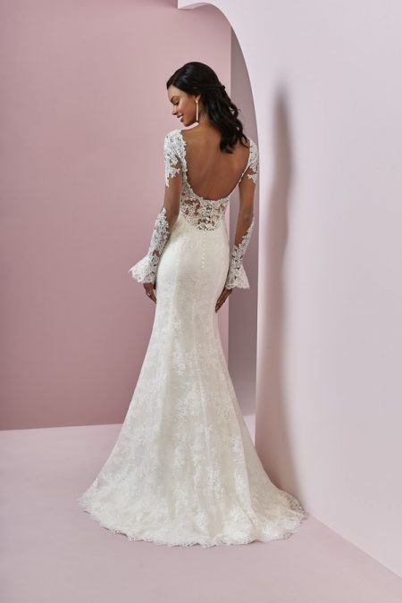Back of Bonnie Wedding Dress from the Rebecca Ingram Camille Fall 2018 Bridal Collection