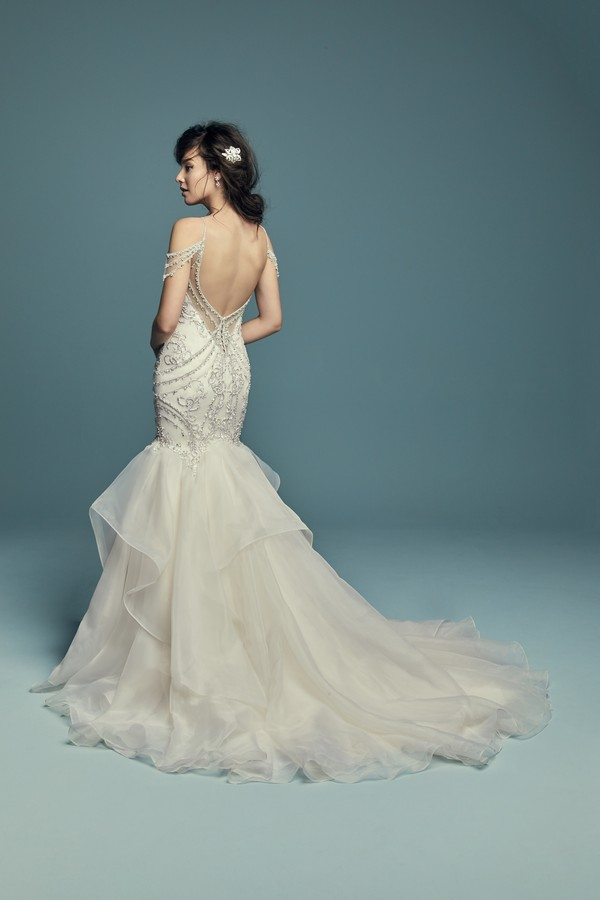Back of Brinkley Wedding Dress from the Maggie Sottero Lucienne Fall 2018 Bridal Collection