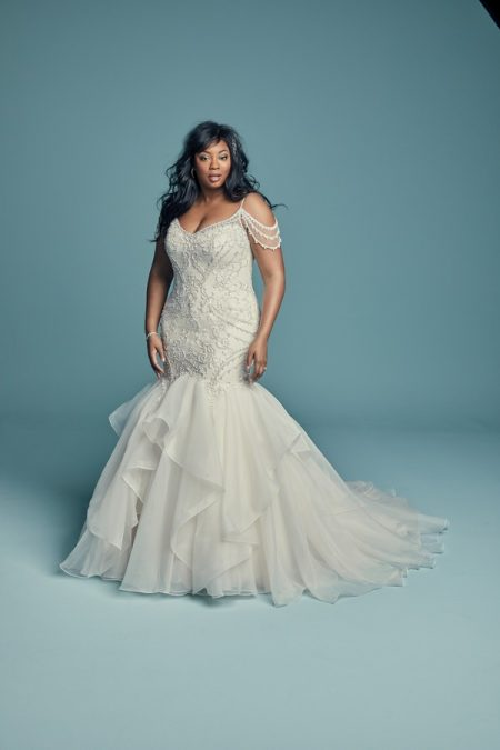 Brinkley Lynette Plus Size Wedding Dress from the Maggie Sottero Lucienne Fall 2018 Bridal Collection