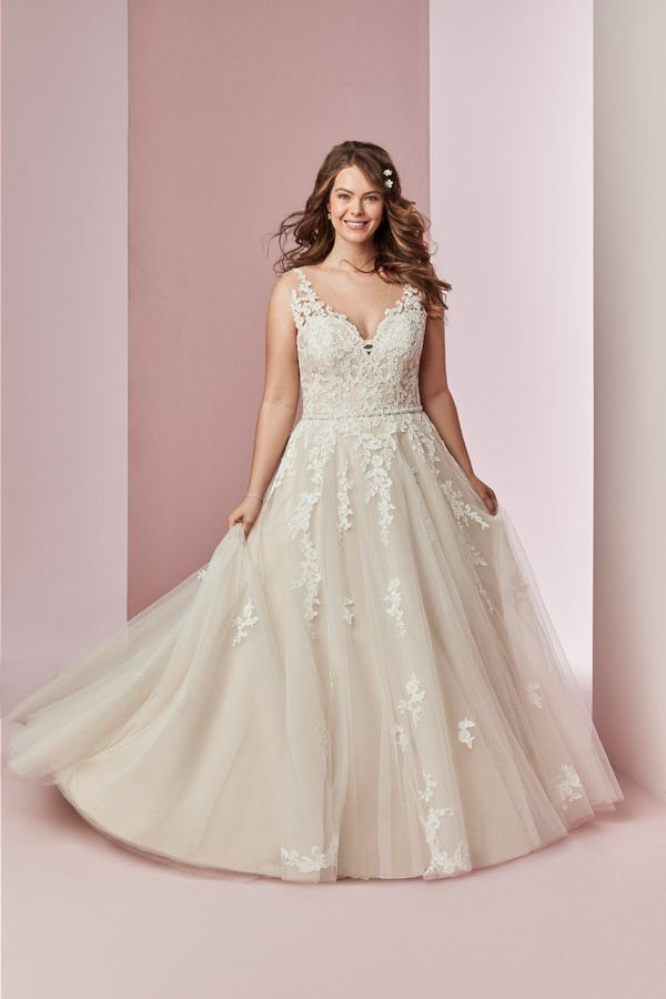 Camille Anne Plus Size Wedding Dress from the Rebecca Ingram Camille Fall 2018 Bridal Collection