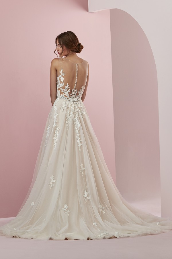 Back of Camille Wedding Dress from the Rebecca Ingram Camille Fall 2018 Bridal Collection