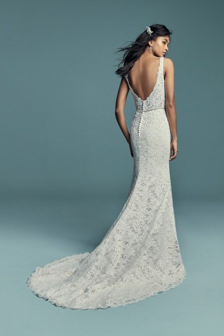 Back of Caroline Wedding Dress from the Maggie Sottero Lucienne Fall 2018 Bridal Collection