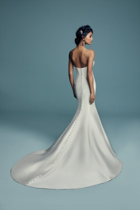Back of Cassidy Wedding Dress from the Maggie Sottero Lucienne Fall 2018 Bridal Collection