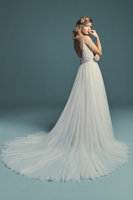 Back of Charlene Wedding Dress from the Maggie Sottero Lucienne Fall 2018 Bridal Collection