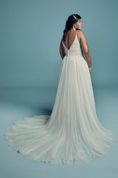 Back of Charlene Lynette Plus Size Wedding Dress from the Maggie Sottero Lucienne Fall 2018 Bridal Collection
