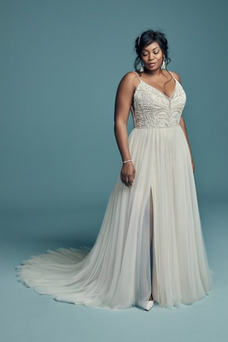 Charlene Lynette Plus Size Wedding Dress from the Maggie Sottero Lucienne Fall 2018 Bridal Collection