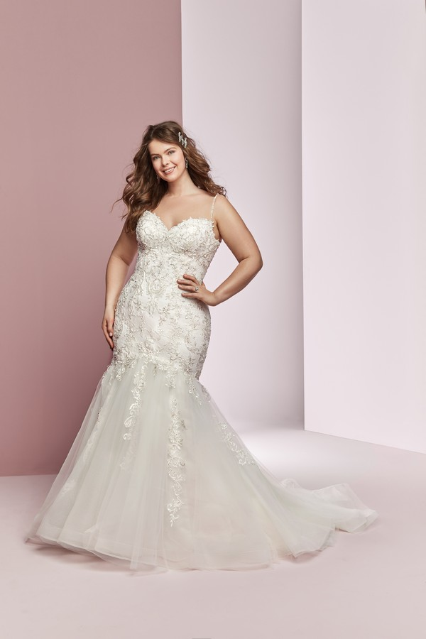 Claire Anne Plus Size Wedding Dress from the Rebecca Ingram Camille Fall 2018 Bridal Collection