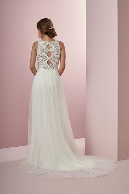 Back of Connie Wedding Dress from the Rebecca Ingram Camille Fall 2018 Bridal Collection