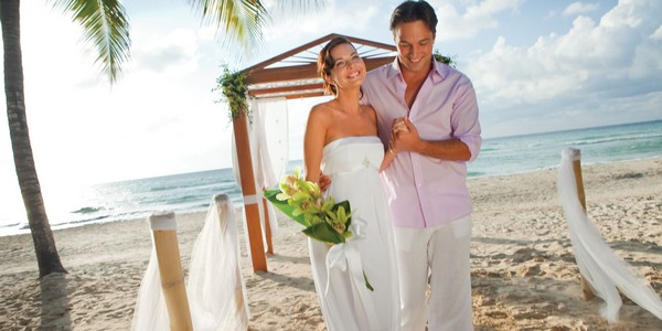 Bride and Groom Just Married at Couples Negril, Jamaica