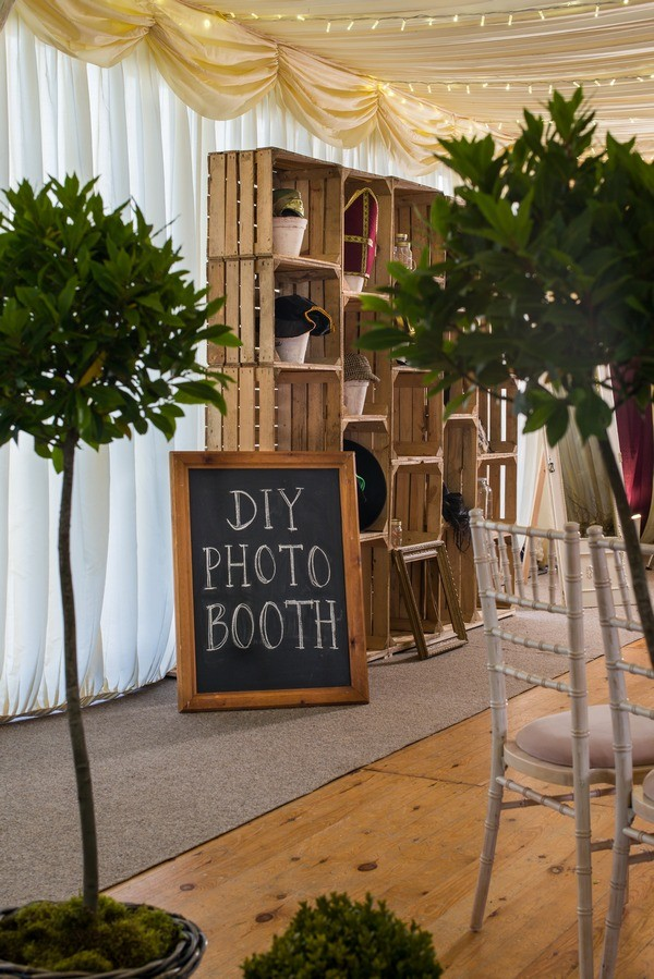 DIY Photo Booth with Vintage Crates