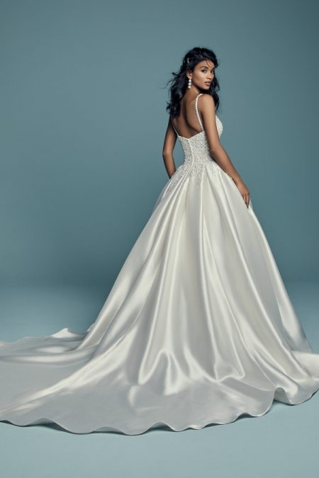 Back of Dana Wedding Dress from the Maggie Sottero Lucienne Fall 2018 Bridal Collection
