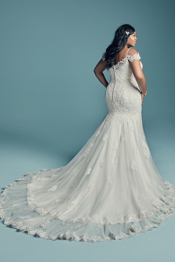Back of Della Lynette Plus Size Wedding Dress from the Maggie Sottero Lucienne Fall 2018 Bridal Collection