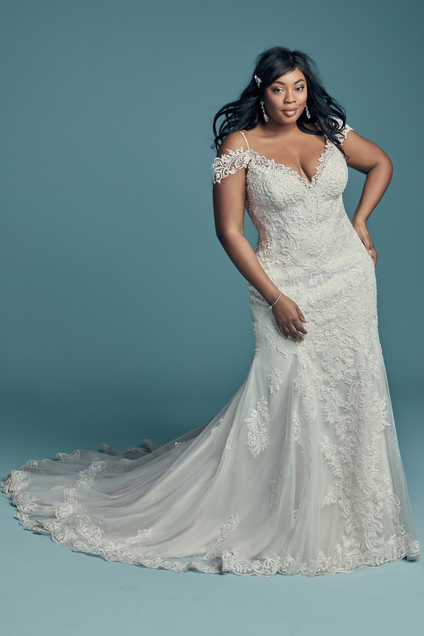Della Lynette Plus Size Wedding Dress from the Maggie Sottero Lucienne Fall 2018 Bridal Collection