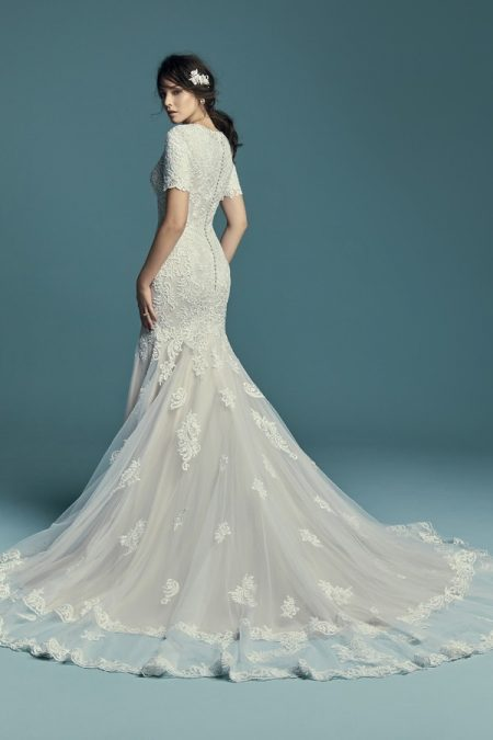 Back of Della Marie Wedding Dress from the Maggie Sottero Lucienne Fall 2018 Bridal Collection