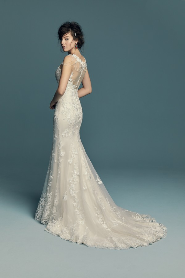 Back of Dorinda Wedding Dress from the Maggie Sottero Lucienne Fall 2018 Bridal Collection