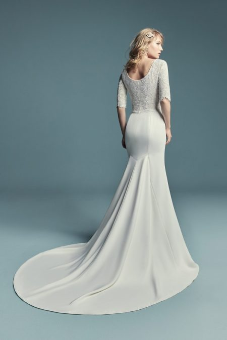 Back of Edalene Wedding Dress from the Maggie Sottero Lucienne Fall 2018 Bridal Collection