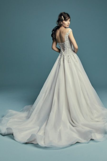 Back of Eden Wedding Dress from the Maggie Sottero Lucienne Fall 2018 Bridal Collection