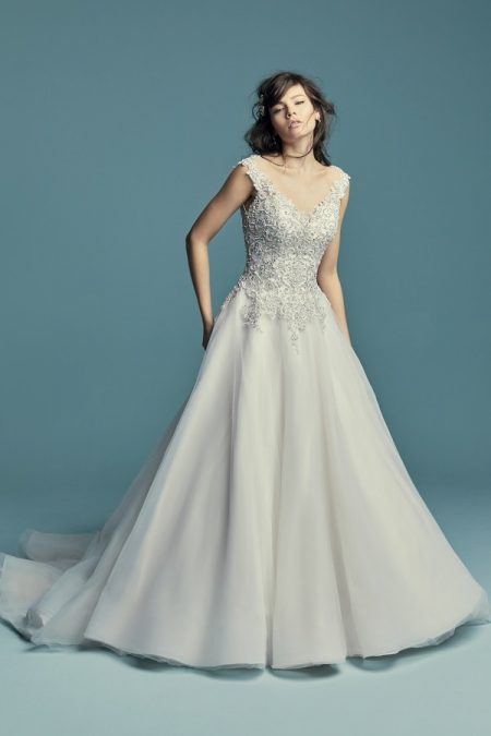 Eden Wedding Dress from the Maggie Sottero Lucienne Fall 2018 Bridal Collection