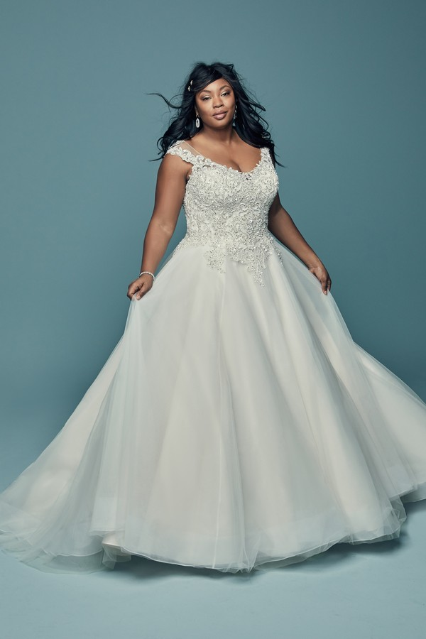 Eden Plus Size Wedding Dress from the Maggie Sottero Lucienne Fall 2018 Bridal Collection