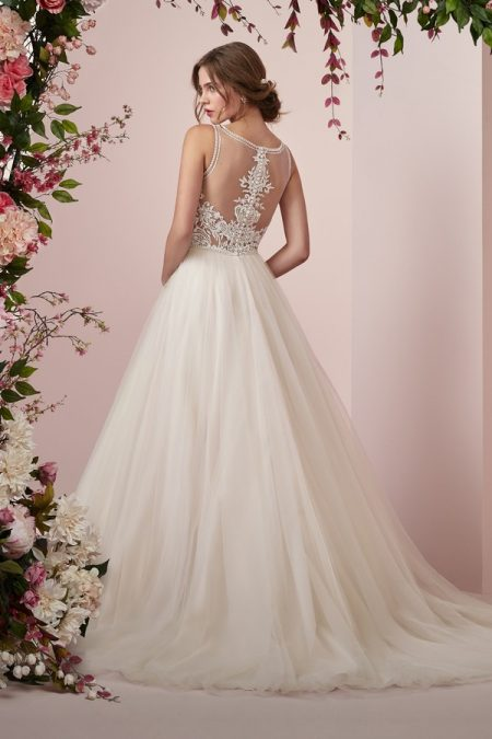 Back of Eliza Wedding Dress from the Rebecca Ingram Camille Fall 2018 Bridal Collection