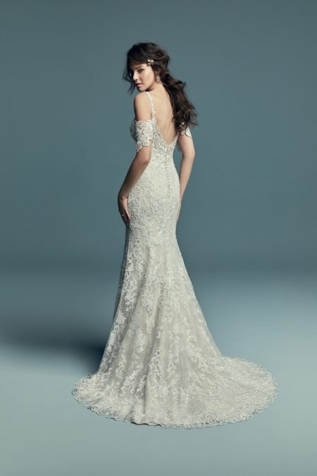 Back of Elliana Wedding Dress from the Maggie Sottero Lucienne Fall 2018 Bridal Collection
