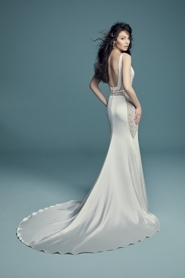 Back of Fabienne Wedding Dress from the Maggie Sottero Lucienne Fall 2018 Bridal Collection
