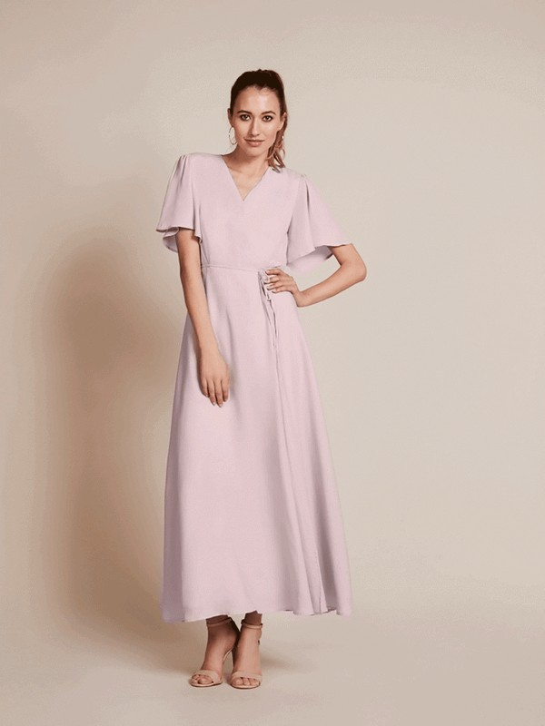 Florence Bridesmaid Dress in Oyster by Rewritten