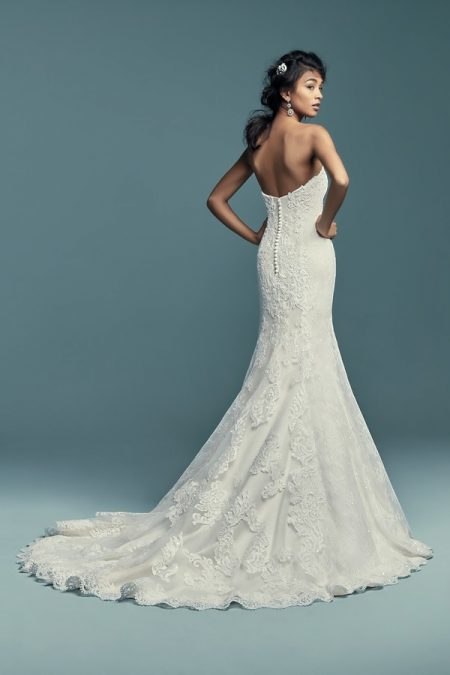 Back of Freida Wedding Dress from the Maggie Sottero Lucienne Fall 2018 Bridal Collection