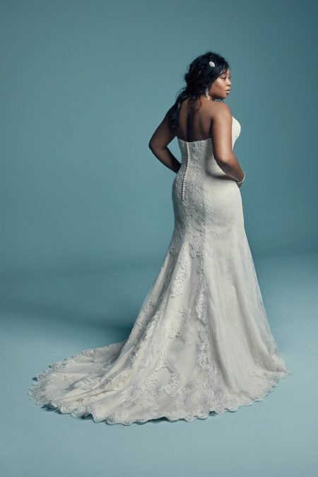 Back of Freida Plus Size Wedding Dress from the Maggie Sottero Lucienne Fall 2018 Bridal Collection