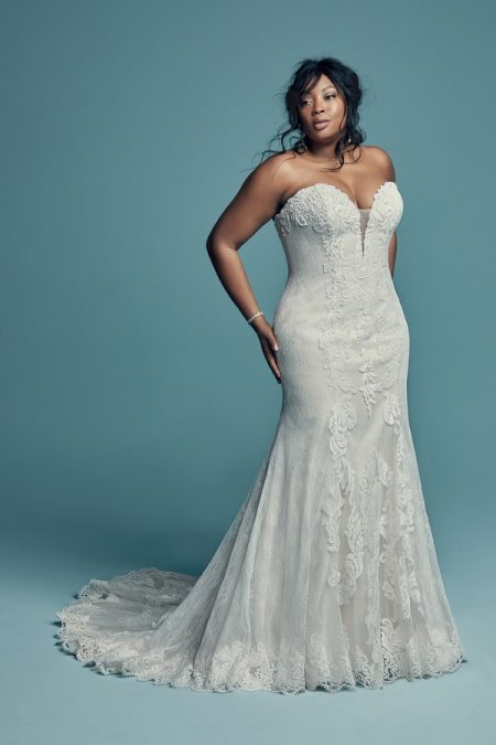 Freida Plus Size Wedding Dress from the Maggie Sottero Lucienne Fall 2018 Bridal Collection