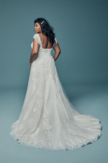 Back of Gail Plus Size Wedding Dress from the Maggie Sottero Lucienne Fall 2018 Bridal Collection