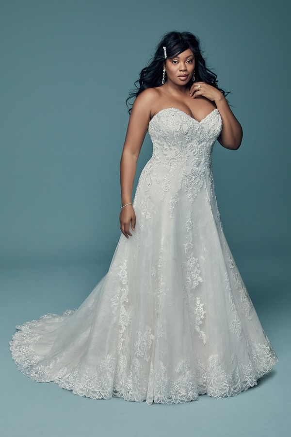 Gail Plus Size Wedding Dress from the Maggie Sottero Lucienne Fall 2018 Bridal Collection