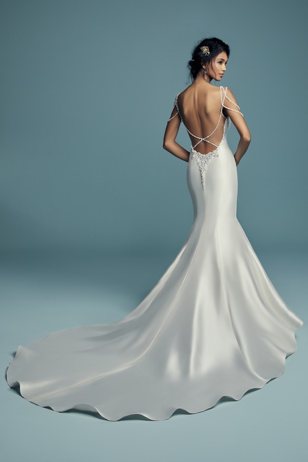 Back of Gentry Wedding Dress from the Maggie Sottero Lucienne Fall 2018 Bridal Collection